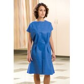 30&quot; x 42&quot; Fabriwear&reg; Exam Gowns Nonwoven, Attached Belt, Sewn Shoulder in Blue