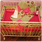 Hot Pink Pinwheel Porta Crib Bedding Collection