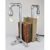 Industrial Evolution Bookend Pipe Lamps (Set of 2)