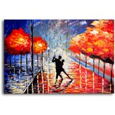 "Hand Painted ""Dancing The Night Away"" Oil Canvas Art"