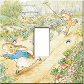Beatrix Potter Peter Rabbit and Mr. McGregor Switch Cover