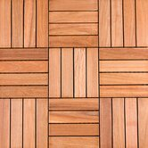 "12"" x 12"" Wood Deck Tiles in Copacabana Ipe Champagne"