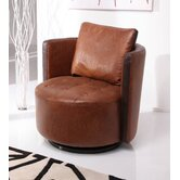 Milton Swivel Armchair in Antique Tan