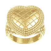 Caribe Gold 14k Gold over Silver Corazon Ring