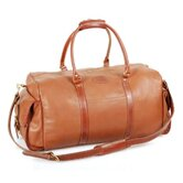 24&quot; Leather Carry-On Duffel with Side Pockets