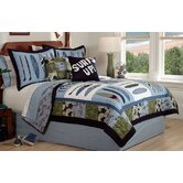 Catch a Wave Quilt with Pillow Sham, Sheet Set, Pillows, and Valance