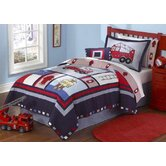 Fireman Quilt with Pillow Sham, Sheet Set. Dust Ruffle, Pillow,  and Valance