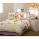 Golden Trail Twin/Full-Queen Quilt with Pillow Sham, Sheet Set, Pillow, and Valance