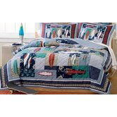 Surfing USA Full / Queen Quilt with 2 shams