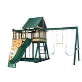 Congo Monkey Playsystem #1 with Swing Beam in Green / Brown