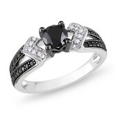 Sterling Silver Round Cut Diamond Multi Stone Ring