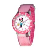 Kid's Minnie Mouse Time Teacher Watch in Pink