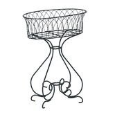 "Wrought Iron Planter - 26"" x 16"" x 35"""