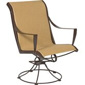 Cromwell Sling Swivel Dining Arm Chair