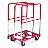 "Panel Mover 8"" Quiet Poly Casters, 2 Fixed and 2 Swivel, 3 Extra Tall Uprights"