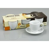 Coffee Bar 2 oz. Espresso Cup and Saucer (Set of 4)