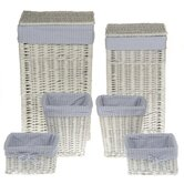 Square Storage Basket with Gingham Lining