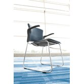 Multi Use Vinyl Seat and Back Stacker Chair with Removeable Arms