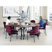 Trapezoid Multi-Use Versatile Table with Guest/Reception Chair Suite