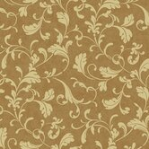 Proper English Tuscan Leaf Scroll Wallpaper