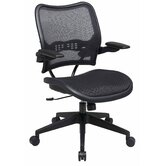 Air Grid Seat and Back Space Seating Deluxe Office Chair with Cantilever Arms