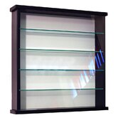 Solid Wood 4 Shelf Glass Wall Display Cabinet