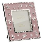 Baby Enamel Photo Frame Girl Pink Frame