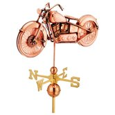 Full Size Weathervane Motorcycle in Polished
