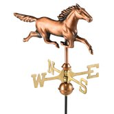 Stallion Weathervane with Garden Pole