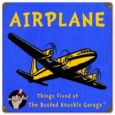 Busted Knuckle Garage Kid's Vintage Airplane Sign
