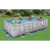 "Pro Series 52"" Deep Metal Frame Swimming Pool Package"