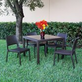 Wickerlook 5 Piece Dining Set