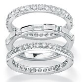 Cubic Zirconia Eternity Bands (Set of 3)