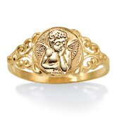 10K Gold Angel Ring