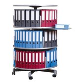 Deluxe 3-Tier Rotary Binder Storage Carousel