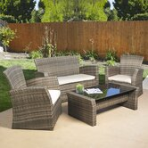 Redondo 4 Piece Lounge Seating Group with Cushions