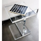 Acrylic I-Beam End Table