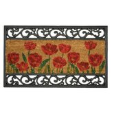 Wrought Iron and Coir Poppy Mat