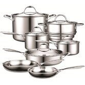Cooks Standard Stainless Steel 12-Piece Cookware Set