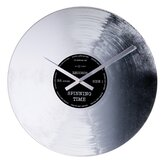 Silver Record Wall Clock by Tycho Merijn Roest
