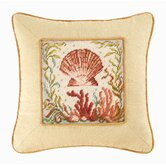 Natural Shells Scallop Shell Pillow