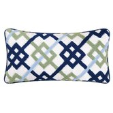 Shabby Elegance Blue Hooked Pillow