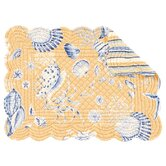 Seashells Quilted Scallop Placemat (Set of 4)