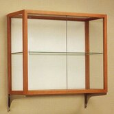 Heirloom 894 Series Wall Mounted Display Case (Oak Finish)