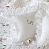 Hugs Embroidered Toss Pillow