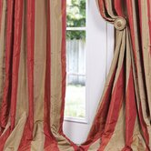 Rialto Faux Silk Taffeta Stripe Curtain