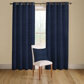 Rib Plain Lined Curtains with Eyelet Heading