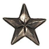 Curiosities Star Knob in Distressed Bright Pewter