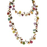 Multicolored Hamba Wood and Sequin 46in Necklace