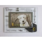 Moments Bevelled Glass Dog Photo Frame